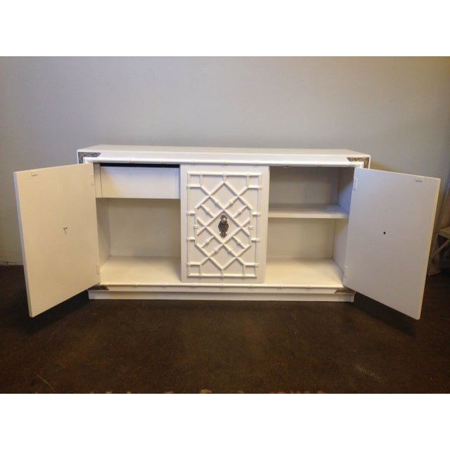 Image of Thomasville Faux Bamboo Credenza