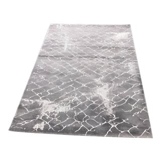 Faded Floor Design Gray Rug - 5'x8'