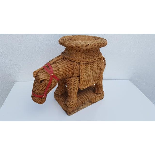Vintage Horse Rattan Stool . - Image 3 of 10