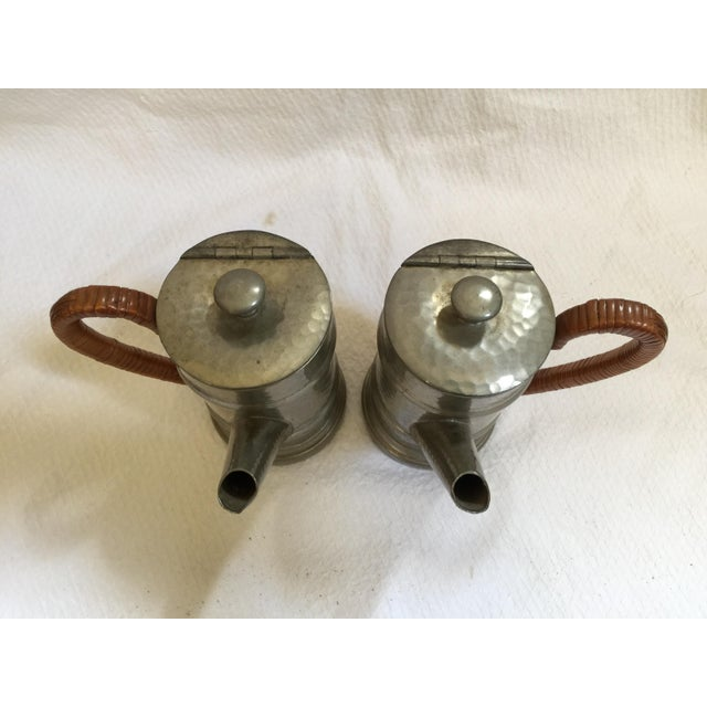 English Pewter Coffee Pots - A Pair - Image 6 of 9