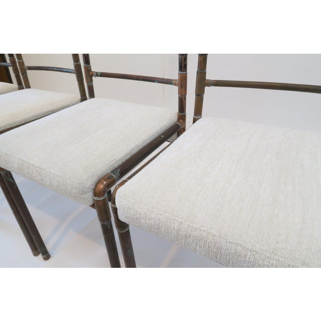 Copper Upholstered Pipe Chairs - Set of 4 - Image 4 of 8