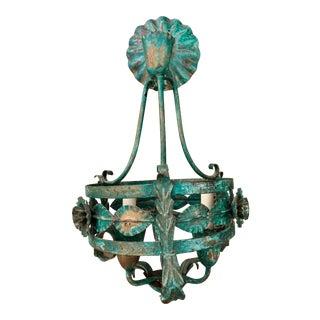 Antique Verdigris 3 Light Chandelier