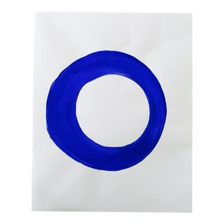 """Neicy Frey """"Dot No. 15, Blue Bottle"""" Original Painting on Paper"""