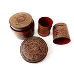 Image of Burmese Lacquerware Betel Nut Boxes - Set of 6