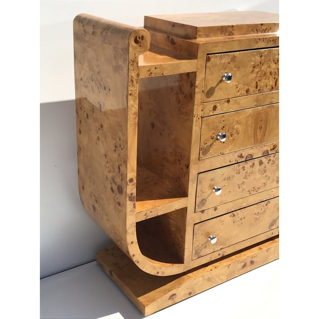 Biedermeier Olive Burl Chest of Drawers - Image 7 of 10