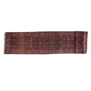 "Antique Persian Bijar Runner- 3'3"" x 15'4"""