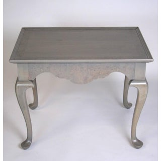 Grey Stained Queen Anne Style Side Tables - A Pair
