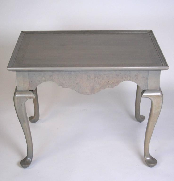 Grey Stained Queen Anne Style Side Tables   A Pair   Image 2 Of 7
