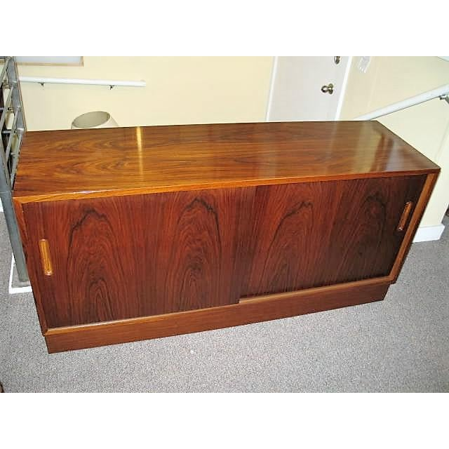 Circa 1970s Danish Rosewood Console - Image 2 of 5