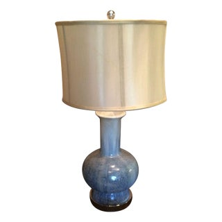 Blue Ceramic Speckled Lamp