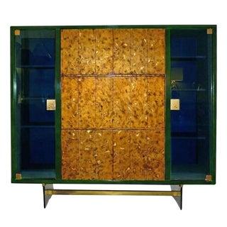 Raphael Rare Drop Front Libraire Cabinet in Original Lacquer France circa 1962