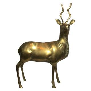 Brass Kudu Sculpture