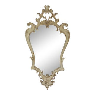 Florentine Carved Painted Gilt-Wood Mirror
