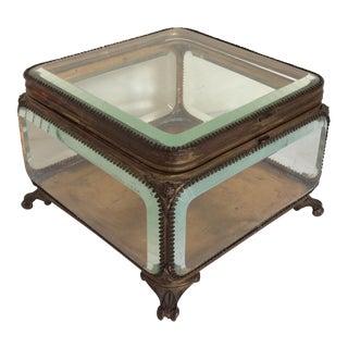 Metal Mounted Glass Box