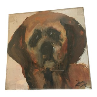 Ralph Neaderland Dog Portrait Painting