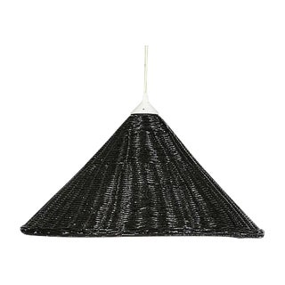 Black Wicker Hanging Pendant Lamp