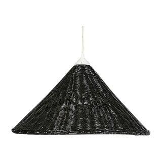 Black Wicker Hanging Pendant Lamp