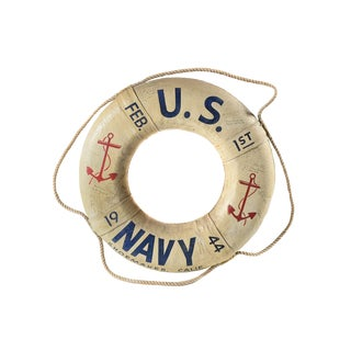 WW2 Original 1944 US Navy Life Ring & Signatures