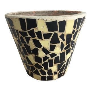Modernist Cracked Mosaic Tile Pot