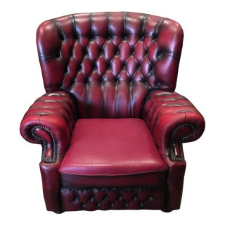 Springvale Leather Tufted Armchair
