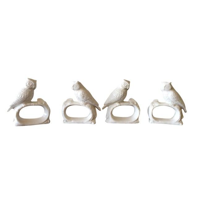 Bone China Owl Napkin Rings - Set of 4 - Image 1 of 5