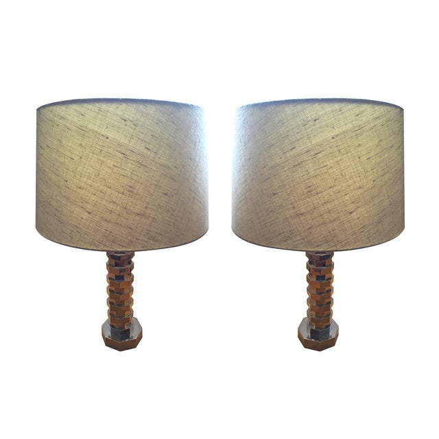 Vaughan Table Lamps & Shades - A Pair - Image 1 of 4