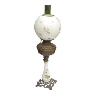 White Globe Kerosene Lamp
