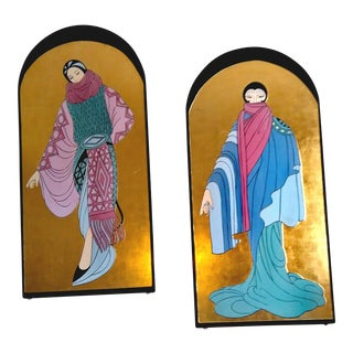 Islamic Women Wall Art in Erte Style - A Pair