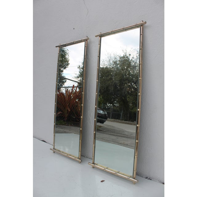 George Koch Faux Bamboo Wall Mirrors - A Pair - Image 4 of 8