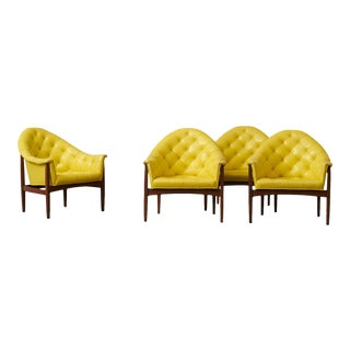 Four Milo Baughman Lounge Chairs