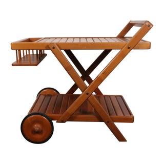 Danish Teak Wood Cart