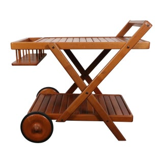Danish Teak Wood Cart