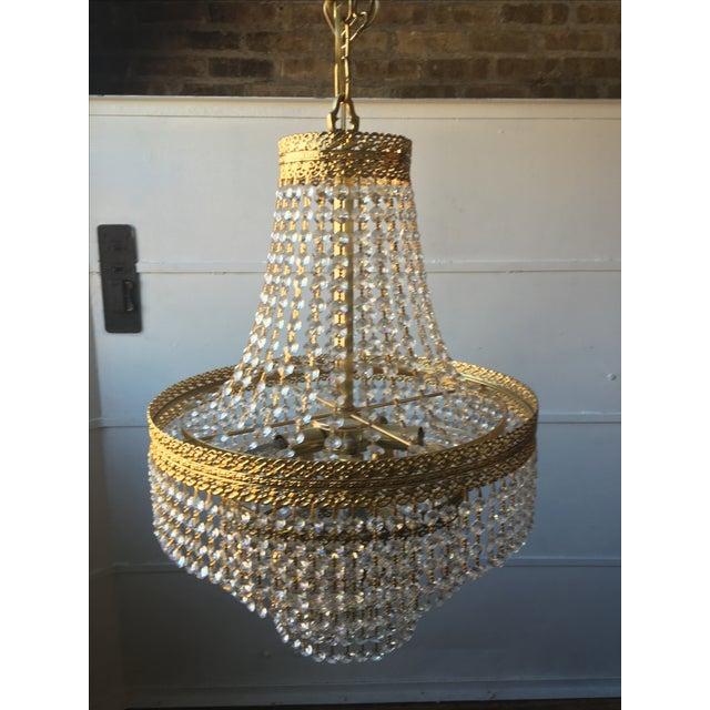 Image of 1960s Swarovski Crystal Empire Chandelier