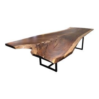10' Solid Wood Single Slab Dining Table