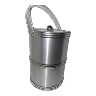 George Briard Lucite Silver Ice Bucket