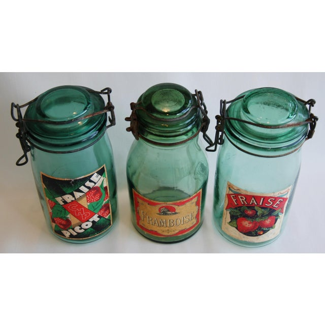 1930s French Canning Preserve Jars w/ Labels & Lids - Set of 3 - Image 3 of 8