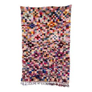 Moroccan Boucherouite Rag Carpet - 5′3″ × 8′