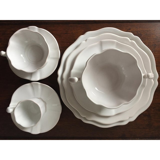 55 Piece-Rouard French Faience Glazed Terra Cotta Dinnerware-1950's - Image 3 of 8
