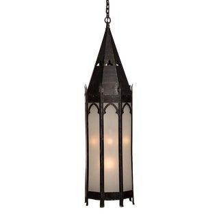 Tall Gothic Style Iron Lantern, Strasbourg, France c. 1895