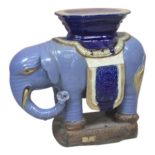 Terracotta Elephant Garden Seat