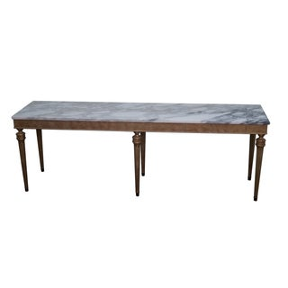 Vintage Silver Gilt Marble Top Console Table