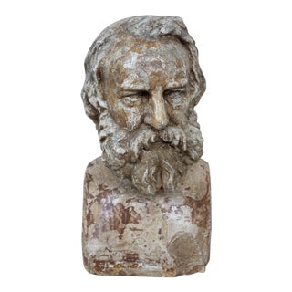 Antique Longfellow Plaster Bust