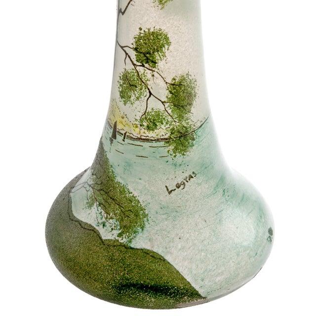 Antique Legras Art Nouveau Hand Painted Glass Vase - Image 4 of 7