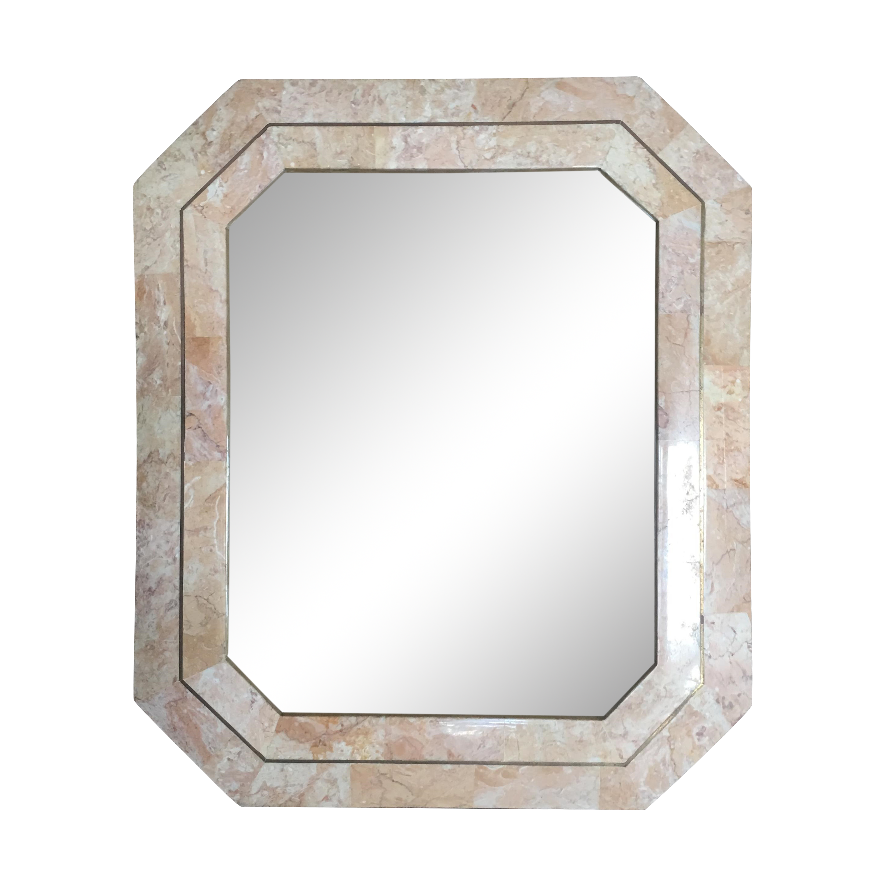 Tessellated Marble And Brass Picture Frame Chairish