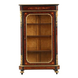 19th Century Antique French Napoleon III Bookcase Cabinet