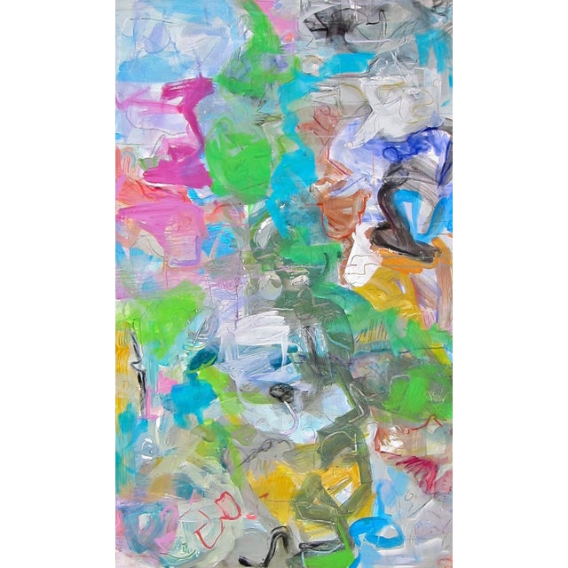 """Trixie Pitts """"Mardi Gras"""" Abstract Painting by Trixie Pitts - Image 1 of 4"""