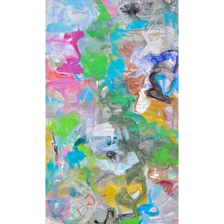 "Trixie Pitts ""Mardi Gras"" Abstract Painting"