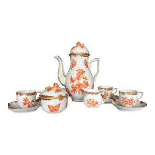 Herend Fortuna Pattern Coffee Service - Set of 7