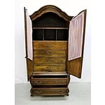 Image of Carlton House French Louis XV Style Mahogany Armoire Cabinet