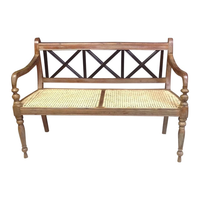 Wooden French Country Bench Chairish